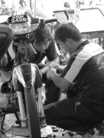 ~apprentice mechanics~ image copyright Kris lee 2012